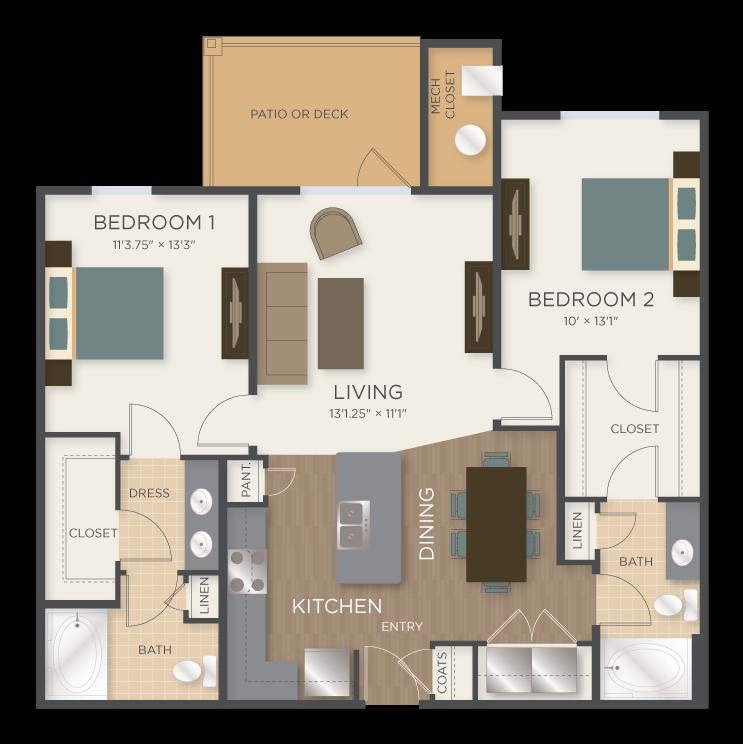 Apartments In Mechanicsville Va: One & Two Bedroom Floor Plans