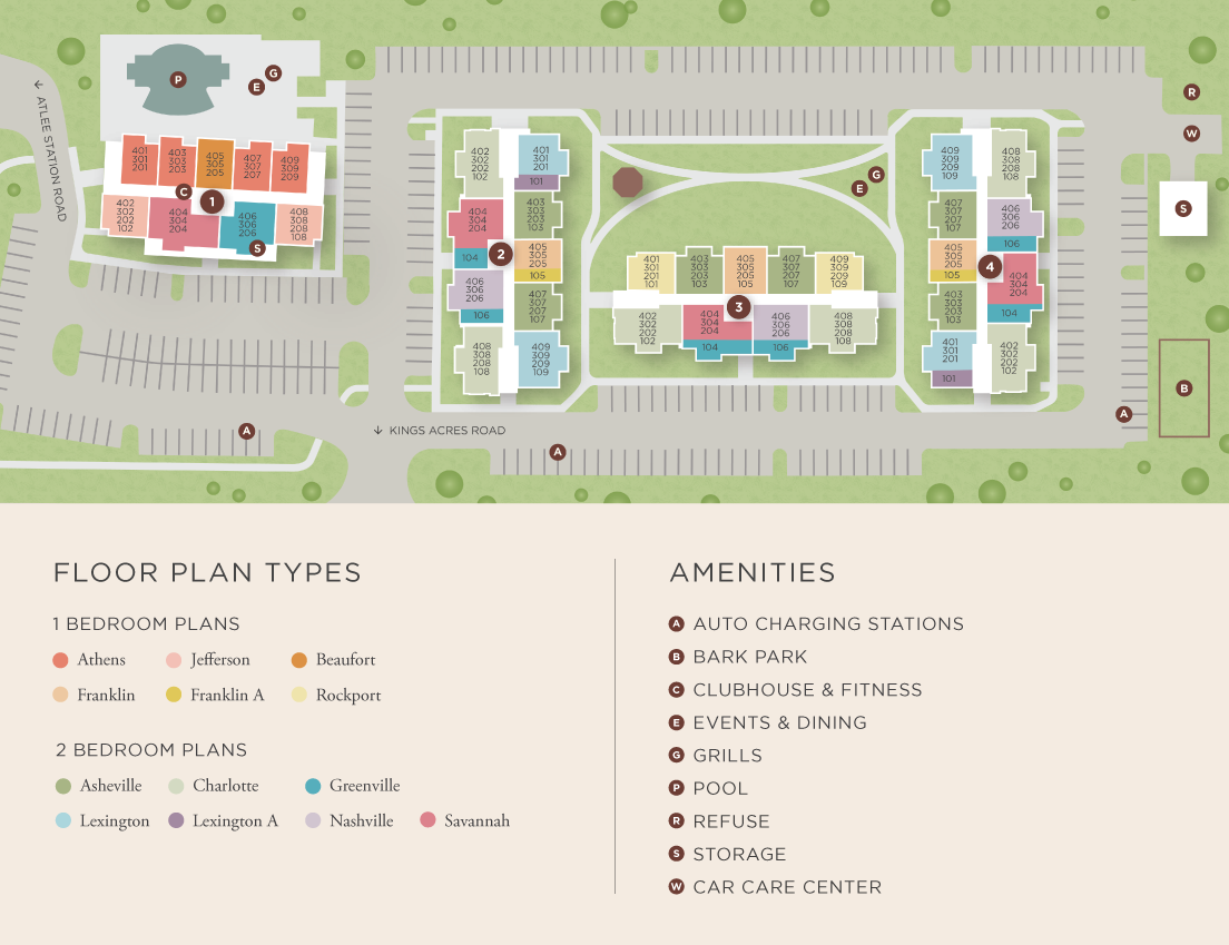 Charleston Ridge apartments site map
